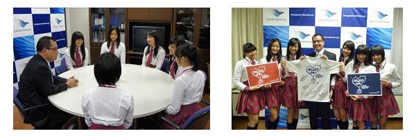 海外初のAKB48姉妹グループJKT48 東京支社を訪問