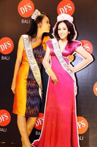 Miss Indonesia Tourism (Puteri Indonesia Pariwisata) 2013 at the DFS Bali Galleria