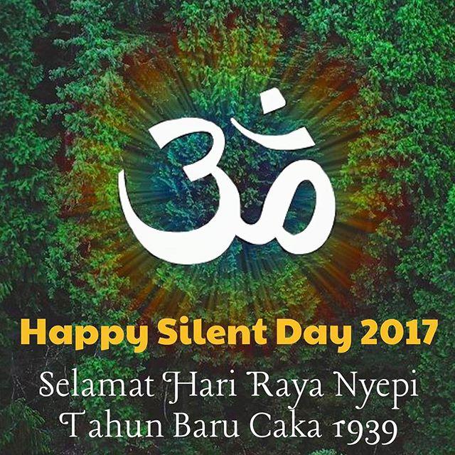 🏾🏽🏼🏻🕉🏻🏼🏽🏾.Selamat Hari Raya Nyepi Tahun Baru Caka 1939.Happy Silent Day 2017.2017年3月28日はバリヒンドゥー教のお正月Neypi(ニュピ)です.バリヒンドゥー教最大の祭事「静寂の日」おめでとうございます🏻